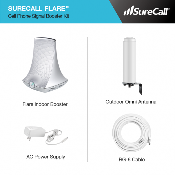 SureCall Flare Booster Kit Contents