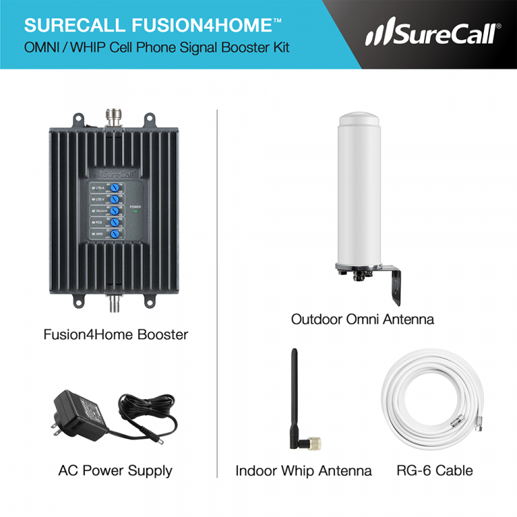 SureCall Fusion4Home Omni Whip Kit Contents