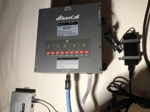 Force5 signal booster install wall mounted amplifier