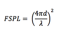 Free Space Path Loss Equation